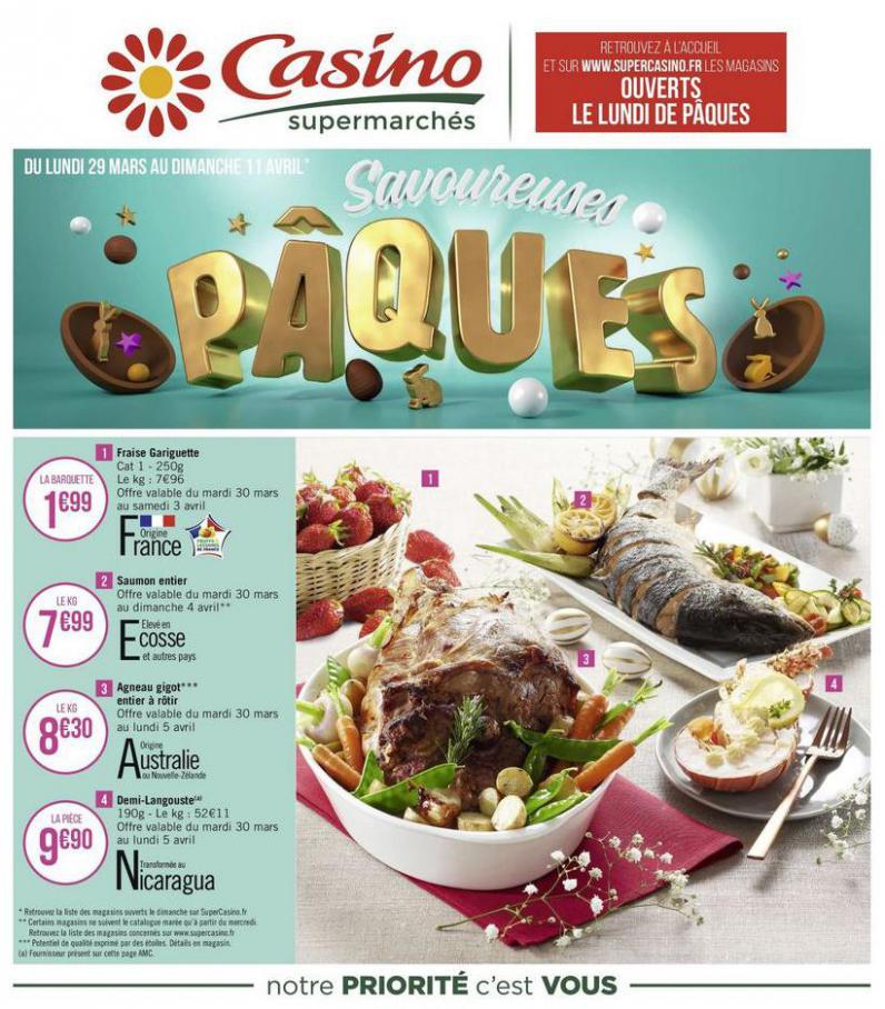 Savoureuses Pâques . Casino Supermarchés (2021-04-11-2021-04-11)
