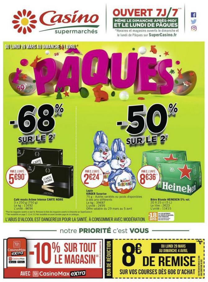 Pâques . Casino Supermarchés (2021-04-11-2021-04-11)