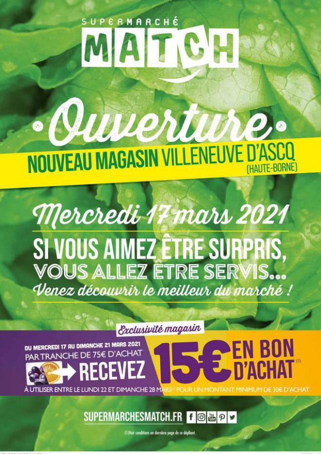 Ouverture . Match (2021-03-21-2021-03-21)