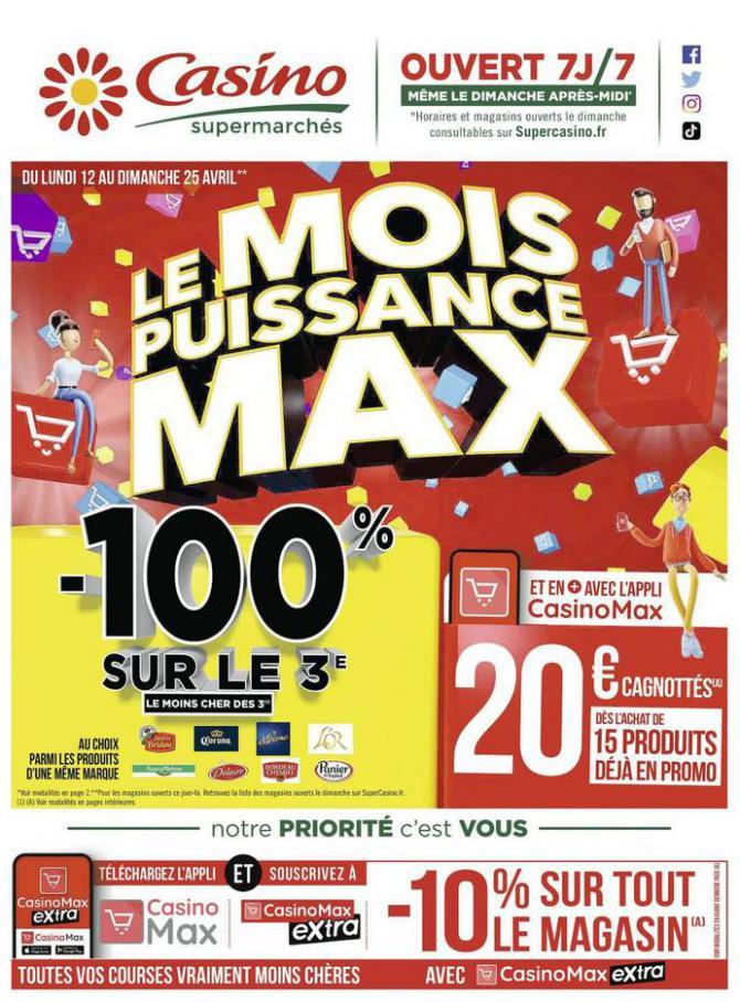 Le mois puissance MAX . Casino Supermarchés (2021-04-25-2021-04-25)