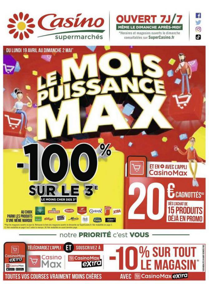 Le mois puissance MAX . Casino Supermarchés (2021-05-02-2021-05-02)