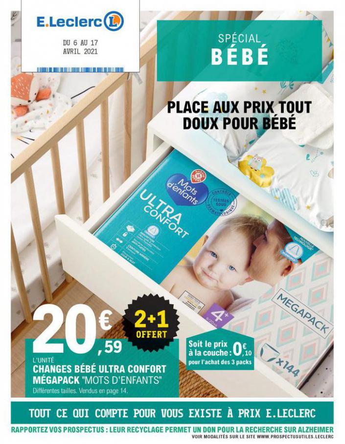 Place aux prix tout doux pour bébé . E.Leclerc (2021-04-07-2021-04-07)