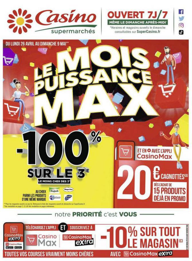 Le mois puissance MAX . Casino Supermarchés (2021-05-09-2021-05-09)