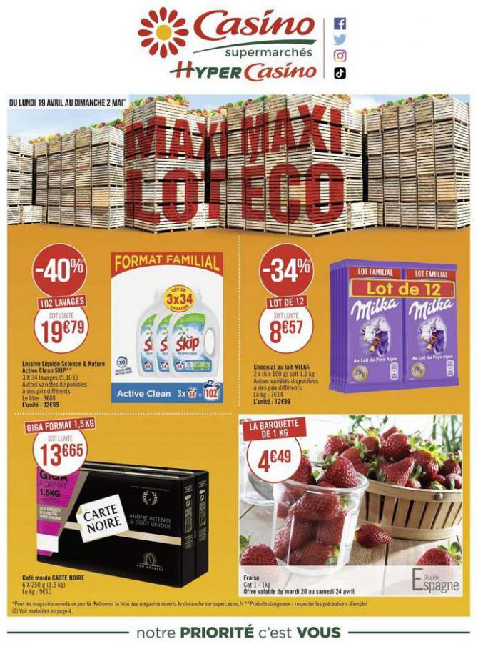 Maxi lot maxi éco . Casino Supermarchés (2021-05-02-2021-05-02)