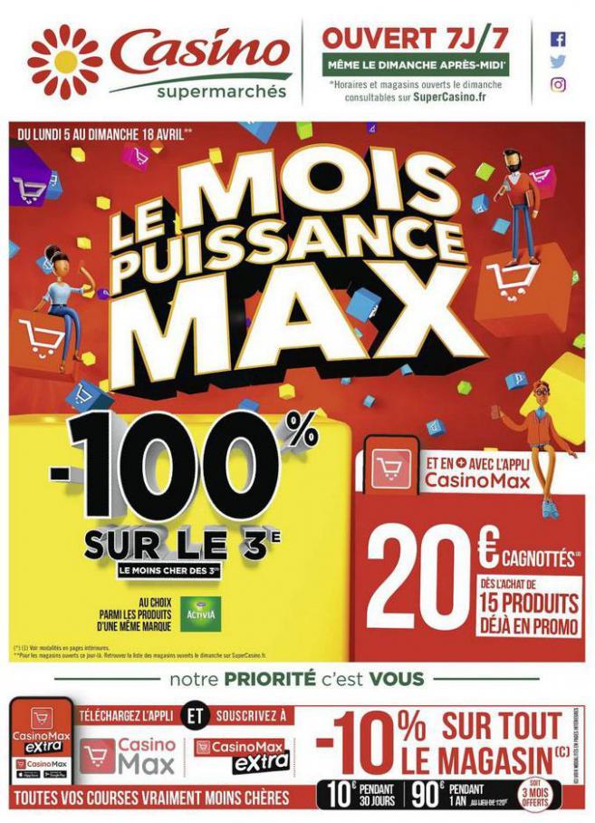 Le mois puissance MAX . Casino Supermarchés (2021-04-18-2021-04-18)