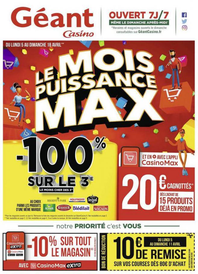 Le mois puissance MAX . Géant Casino (2021-04-18-2021-04-18)