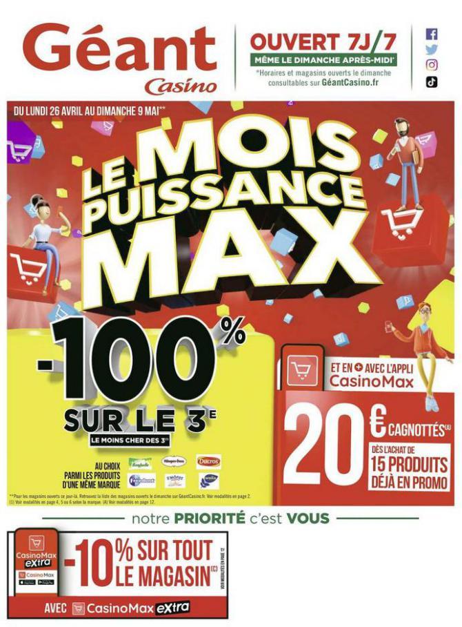 Le mois puissance MAX . Géant Casino (2021-05-09-2021-05-09)