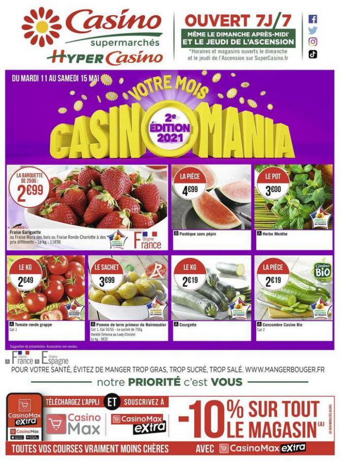 Votre mois Casinomania . Casino Supermarchés (2021-05-15-2021-05-15)