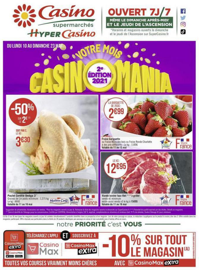 Votre mois Casinomania . Casino Supermarchés (2021-05-23-2021-05-23)