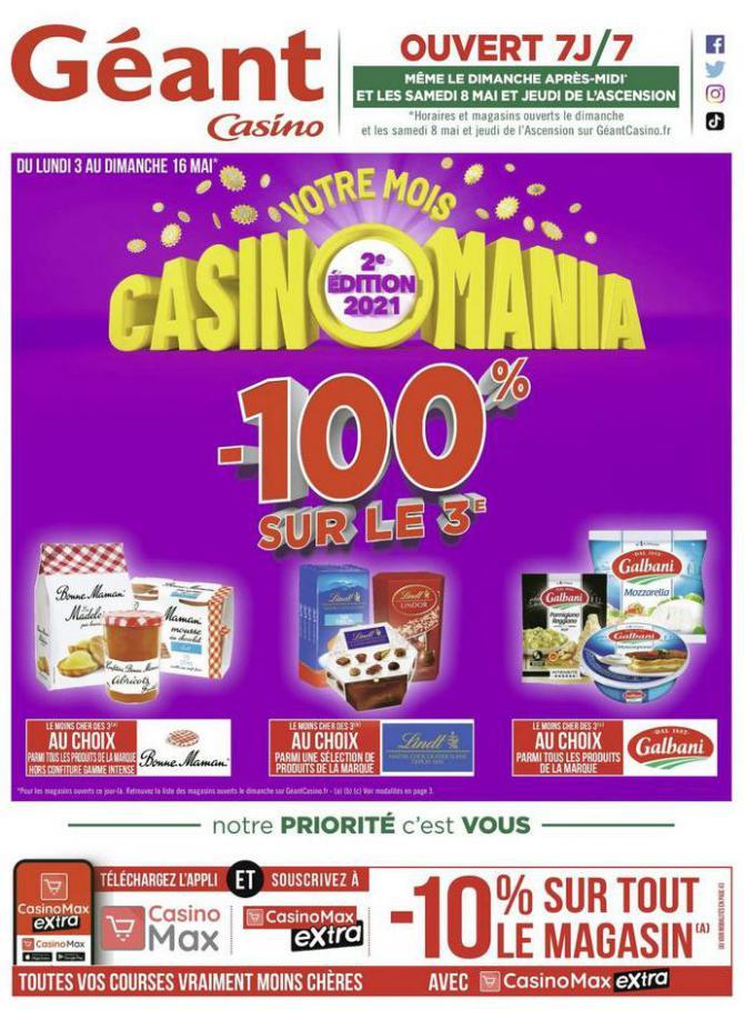 Votre mois Casinomania . Géant Casino (2021-05-16-2021-05-16)