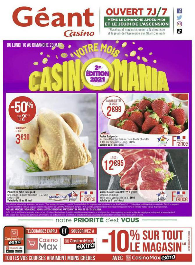 Votre mois Casinomania . Géant Casino (2021-05-23-2021-05-23)