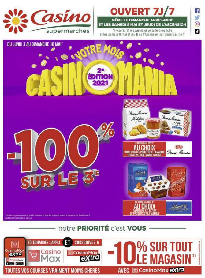 Votre mois Casinomania . Casino Supermarchés (2021-05-16-2021-05-16)