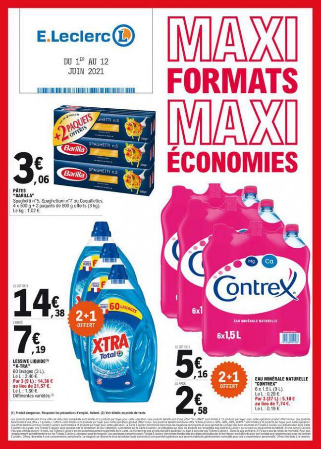 Maxi formats, maxi économies. E.Leclerc (2021-06-12-2021-06-12)