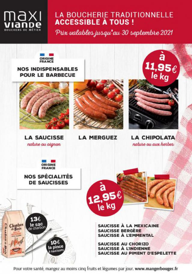 La boucherie traditionnelle . Maxi Viande (2021-09-30-2021-09-30)