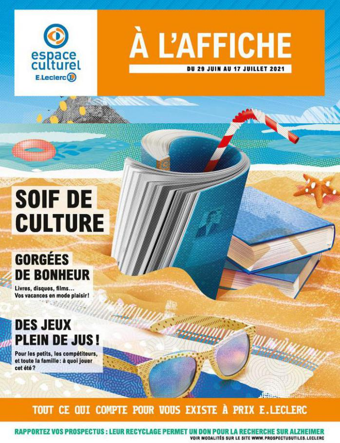 Catalogue espace culturel. E.Leclerc Drive (2021-07-17-2021-07-17)