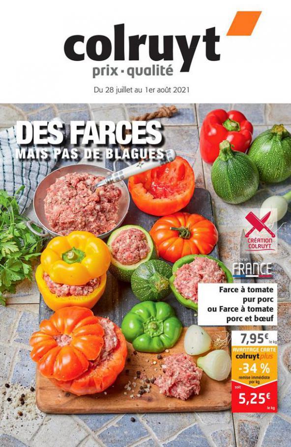 DES FARCES MAIS PAS DE BLAGUES. Colruyt (2021-08-01-2021-08-01)