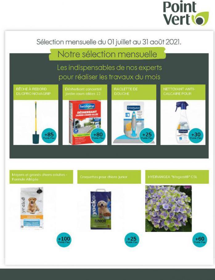 Notre sélection mensuelle. Point Vert (2021-08-31-2021-08-31)