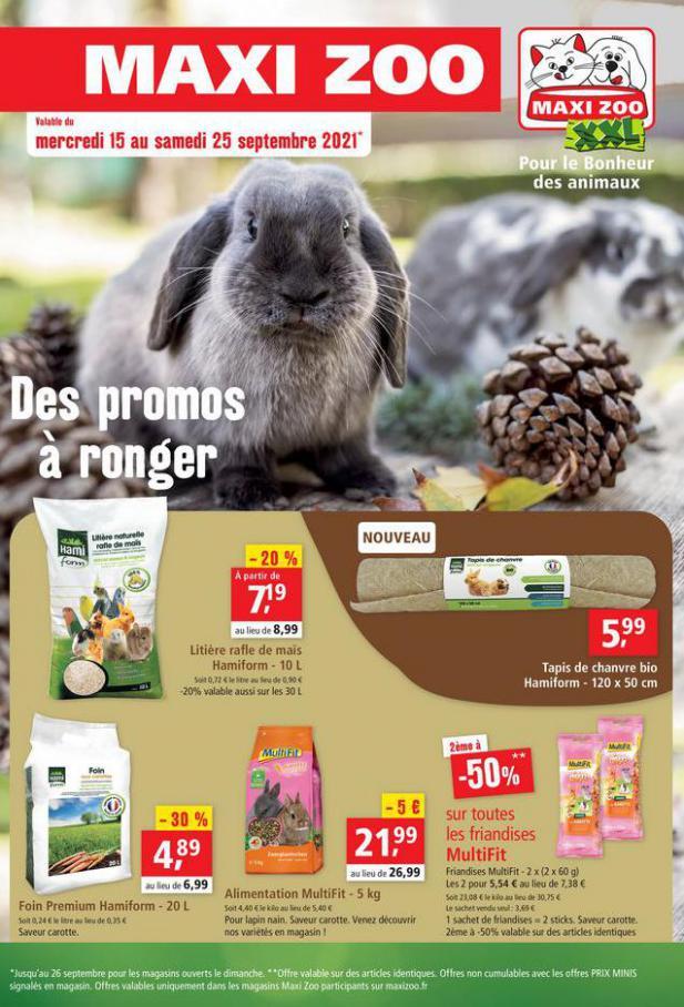 Des Promos à ronger. Maxi Zoo (2021-09-25-2021-09-25)