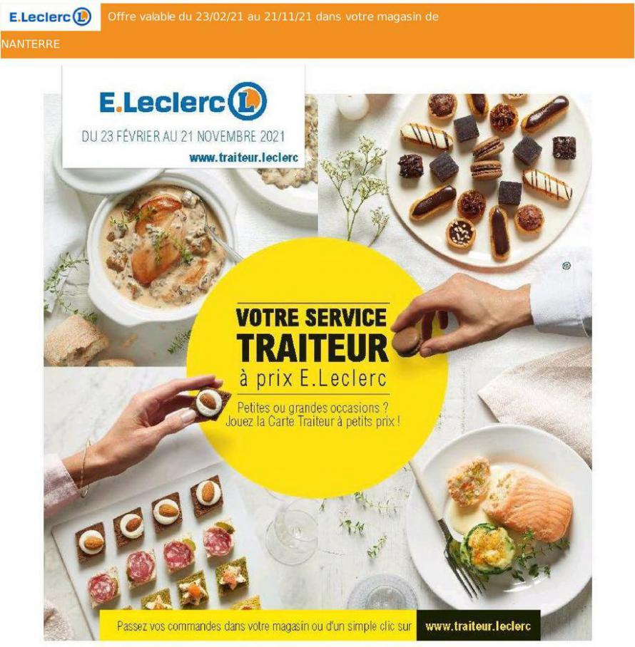 Votre Service Traiteur. E.Leclerc Drive (2021-11-21-2021-11-21)