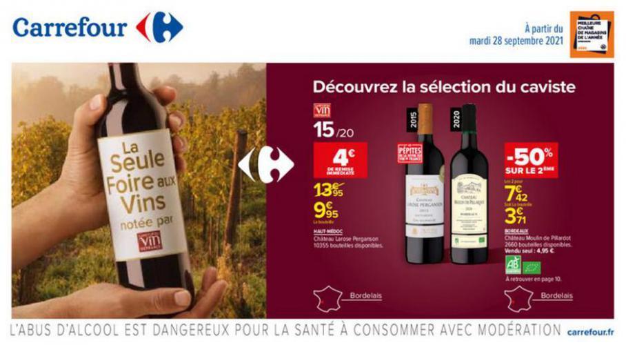 Foire aux vins Automne !. Carrefour (2021-10-11-2021-10-11)