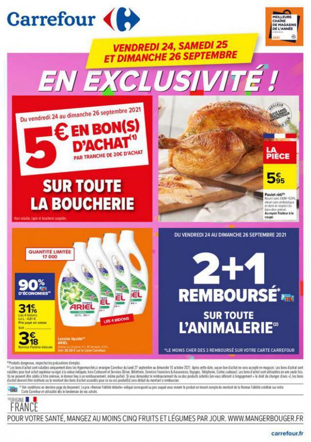 Carrefour en Exclusivité !. Carrefour (2021-09-26-2021-09-26)