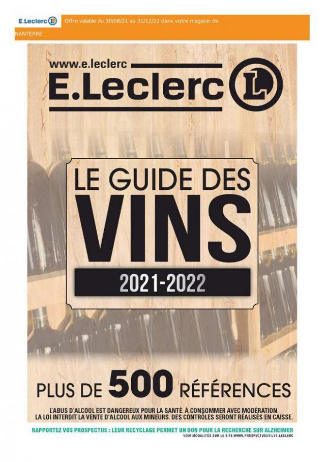 Le Guide des Vins. E.Leclerc Drive (2021-12-31-2021-12-31)
