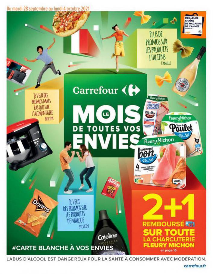 LE MOIS DE TOUTES VOS ENVIES. Carrefour (2021-10-04-2021-10-04)