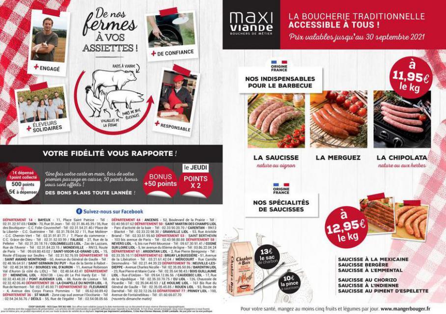 Nos spécialités Été. Maxi Viande (2021-10-31-2021-10-31)