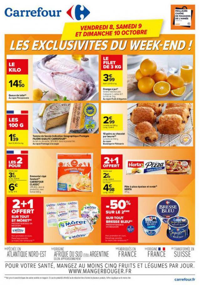 LES EXCLUSIVITÉS DU WEEK-END !. Carrefour (2021-10-10-2021-10-10)